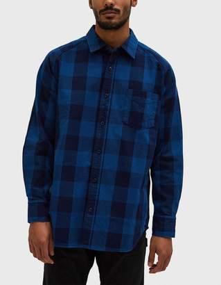 Beams Japan Check Shirt in Blue
