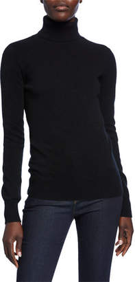 Neiman Marcus Basic Long-Sleeve Turtleneck Cashmere Sweater