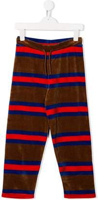 Mini Rodini velour stripe trousers