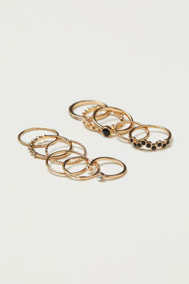 H&M 11-pack Rings - Gold