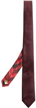 Burberry slim-cut check twill tie