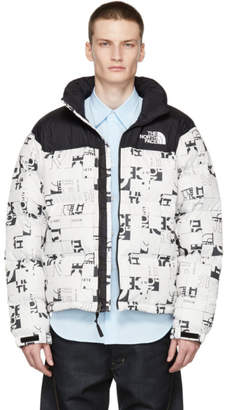 The North Face White Down 1996 Retro Broken Grid Nuptse Jacket