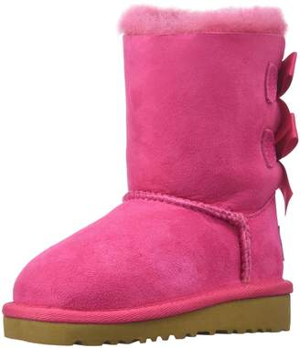 UGG Girls' Bailey Bow Sheepskin Fashion Boot Pink 5 M US