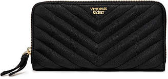 Victoria's Secret Victorias Secret Pebbled V-Quilt Zip Wallet