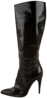 pradaPrada Leather Pointed-Toe Boots