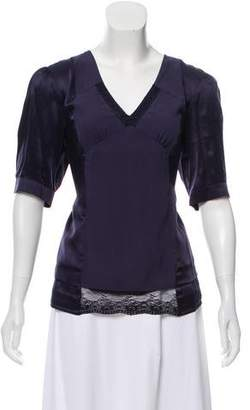 See by Chloe V-Neck Silk Top w/ Tags
