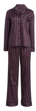 Saks Fifth Avenue COLLECTION Two-Piece Cotton Pajama Set