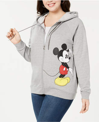 Hybrid Plus Size Minnie & Mickey Mouse Zip Hoodie