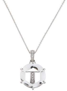 Frederic Sage 18K Diamond & Quartz Initial 'I' Pendant Necklace
