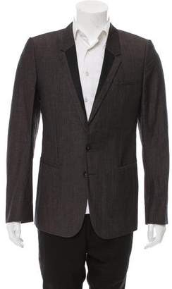 Ann Demeulemeester Notched-Lapel Two-Button Blazer
