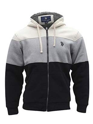 U.S. Polo Assn. Men's Color Block Full Zip Hoodie