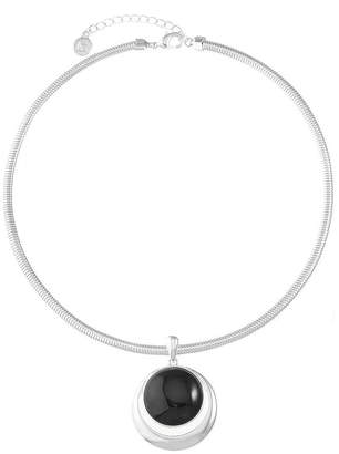 Liz Claiborne Womens Black Pendant Necklace
