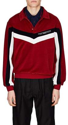 Givenchy Men's Colorblocked Velvet Polo Shirt