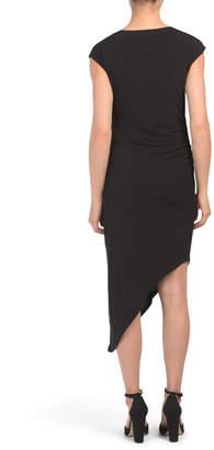 Asymmetrical Hem Bodycon Dress