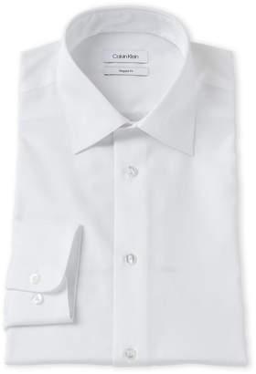 Calvin Klein White Regular Fit Non-Iron Dress Shirt
