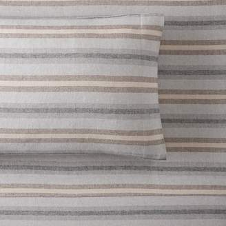 Pottery Barn Teen Rustic Stripe Organic Flannel Sheet Set