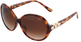 Chopard Round Havana Acetate Sunglasses
