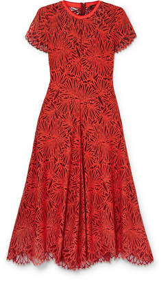 Proenza Schouler Lace Midi Dress - Red