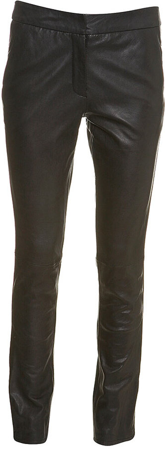 High-waisted Leather Skinny