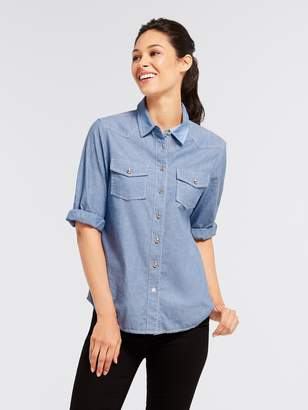 Draper James Bluebird Chambray Button Down
