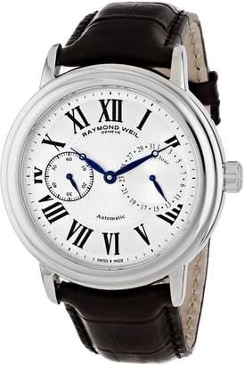 Raymond Weil Men's 2846-STC-00659 Maestro Brown/Silver Leather Watch