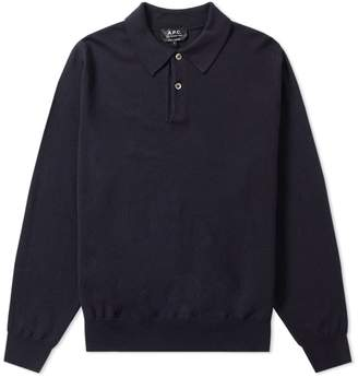 A.P.C. Long Sleeve Jay Knitted Polo