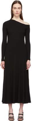 Rosetta Getty Black Off-Shoulder Flare Dress