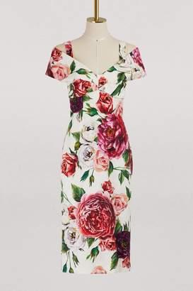 Dolce & Gabbana Peony print midi dress