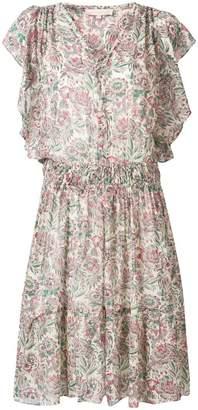 Vanessa Bruno floral print ruffle trim dress