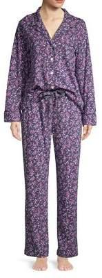 Carole Hochman Two-Piece Ditsy Floral Pajamas Set