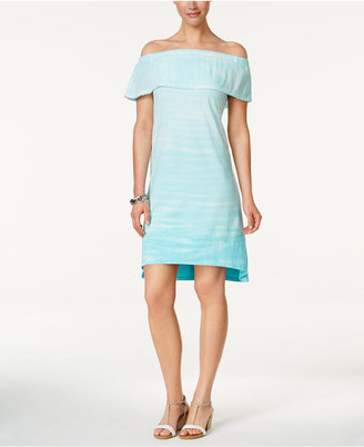 Style & Co Tie-Dyed Ruffled Dress, Only at Macy's $49.50 thestylecure.com