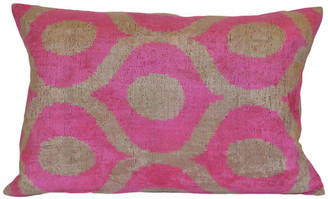 Orientalist Home Andrea Ikat 16x24 Pillow - Pink