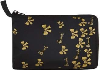 Harrods Gold Bow Pocket Shopper