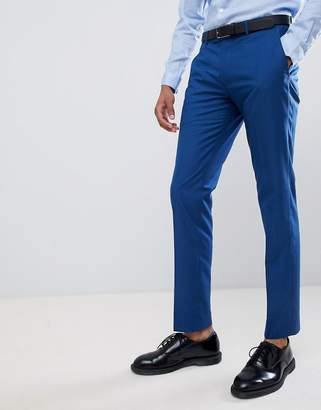 Farah Smart Skinny Wedding Suit Pants In Blue