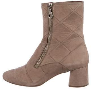 Marc Jacobs Quilted Suede Ankle Boots