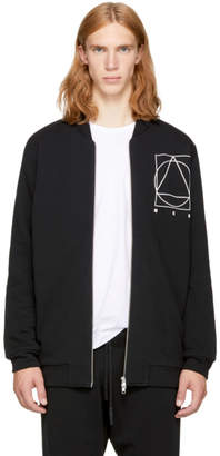 McQ Black Glyph Icon MA-1 Bomber Jacket