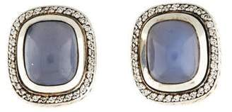David Yurman Dyed Chalcedony & Diamond Albion Earclips