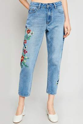 Hayden Embroidered Boyfriend Jeans
