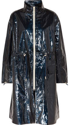 Isabel Marant Ensel Coated Cotton-blend Raincoat - Midnight blue