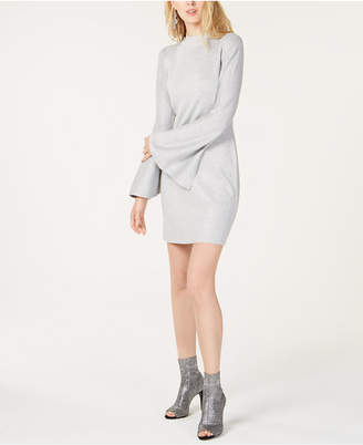 INC International Concepts I.n.c. Petite Bell-Sleeve Sweater Dress