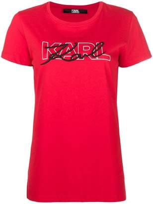 Karl Lagerfeld double logo T-shirt