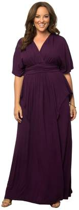 Kiyonna Clothing Women's Plus Size Indie Flair Maxi Dress