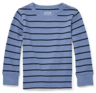 Children's Place The Baby And Toddler Boys Long Sleeve Striped Thermal Top