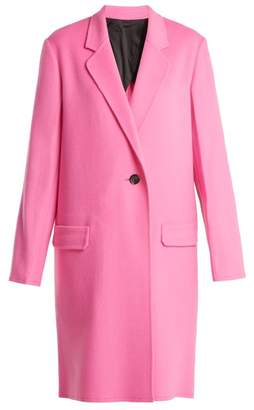Helmut Lang Double Faced Wool Blend Coat - Womens - Pink