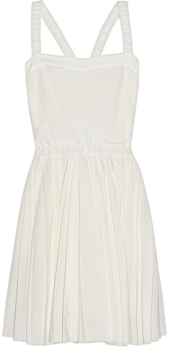 Band Of Outsiders Silk and cotton-blend voile dress