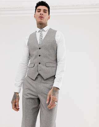 Harry Brown wedding wool blend slim fit summer tweed suit vest