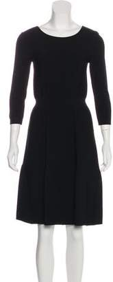 Fendi Long Sleeve Knee-Length Dress