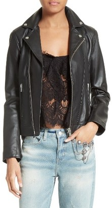 Women's The Kooples Lambskin Leather Jacket $670 thestylecure.com