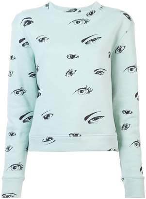 The Elder Statesman eye print sweatshirt