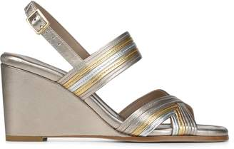Donald J Pliner LAINE, Metallic Leather Wedge Sandal
